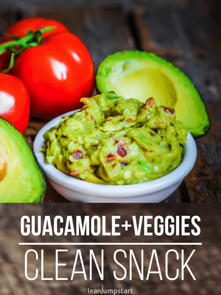 veggies with guacamole