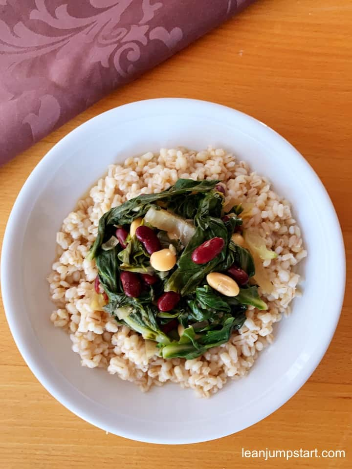 sauteed swiss chard with barley
