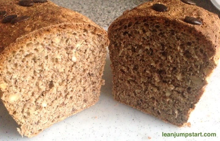 whole wheat bread with hazelnuts