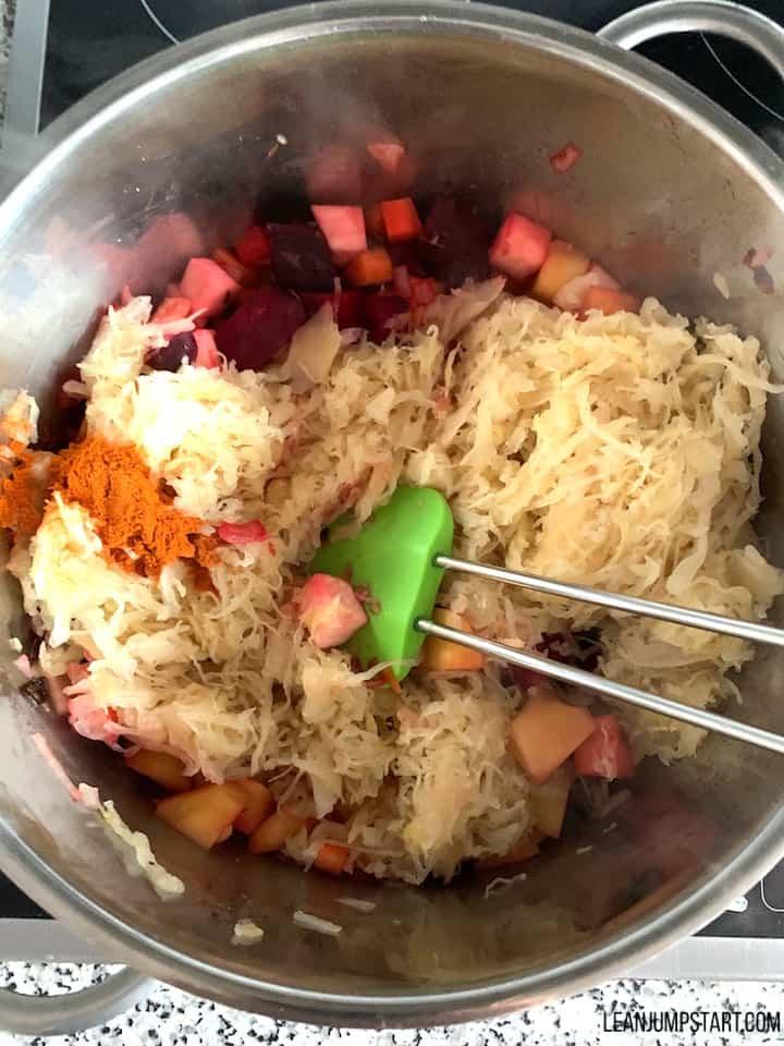 Stir in red pepper powder