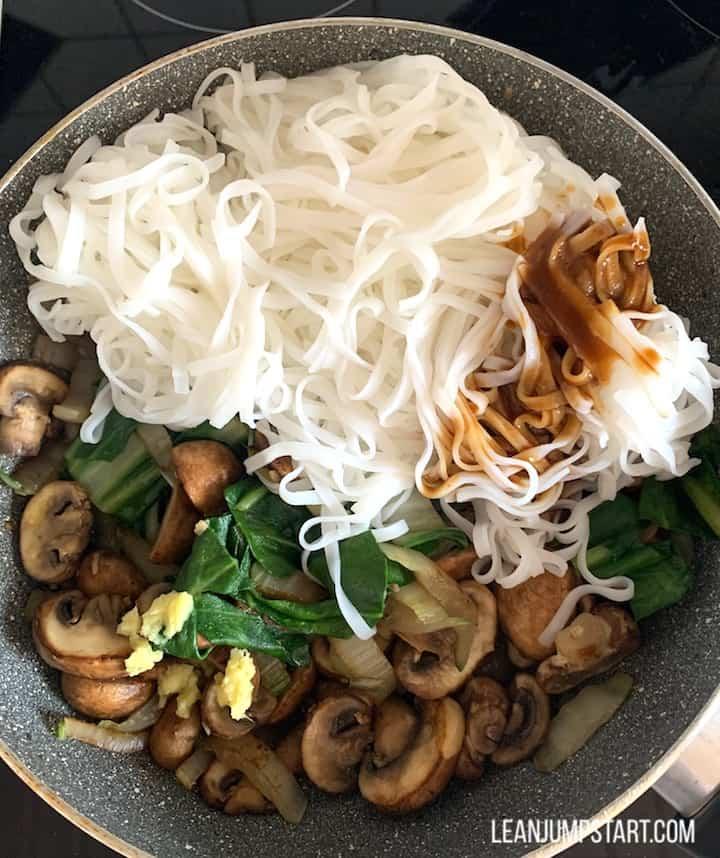 bean thread noodles added
