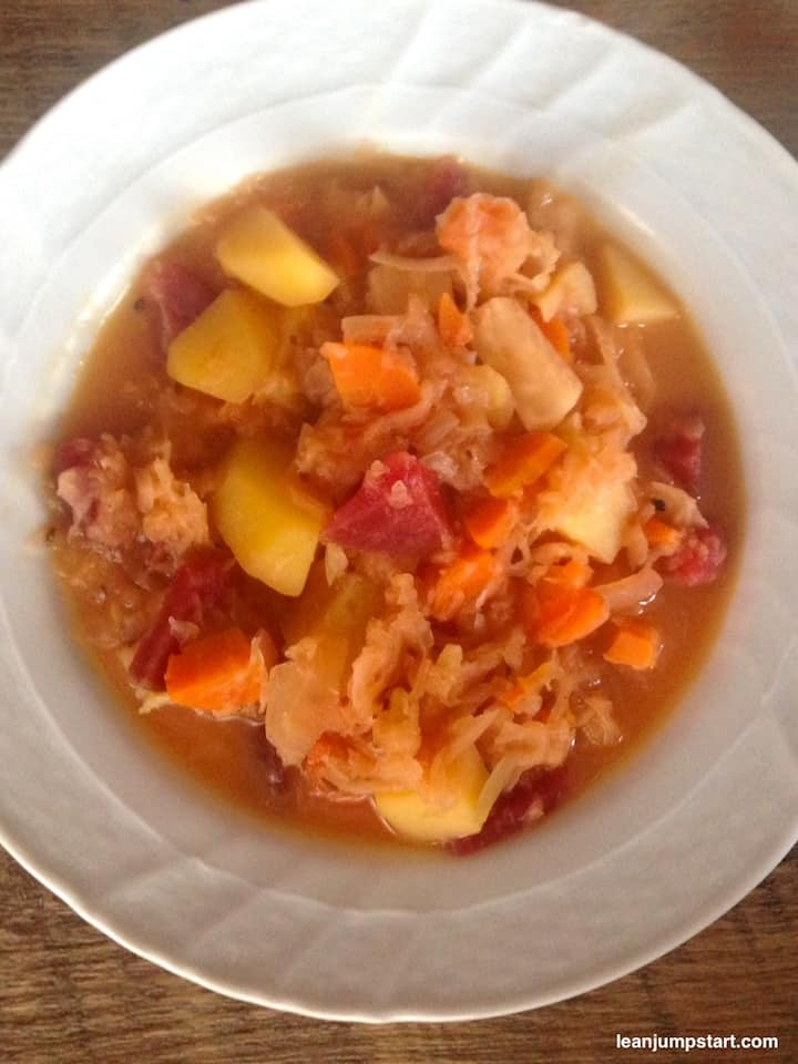 clean eating sauerkraut soup
