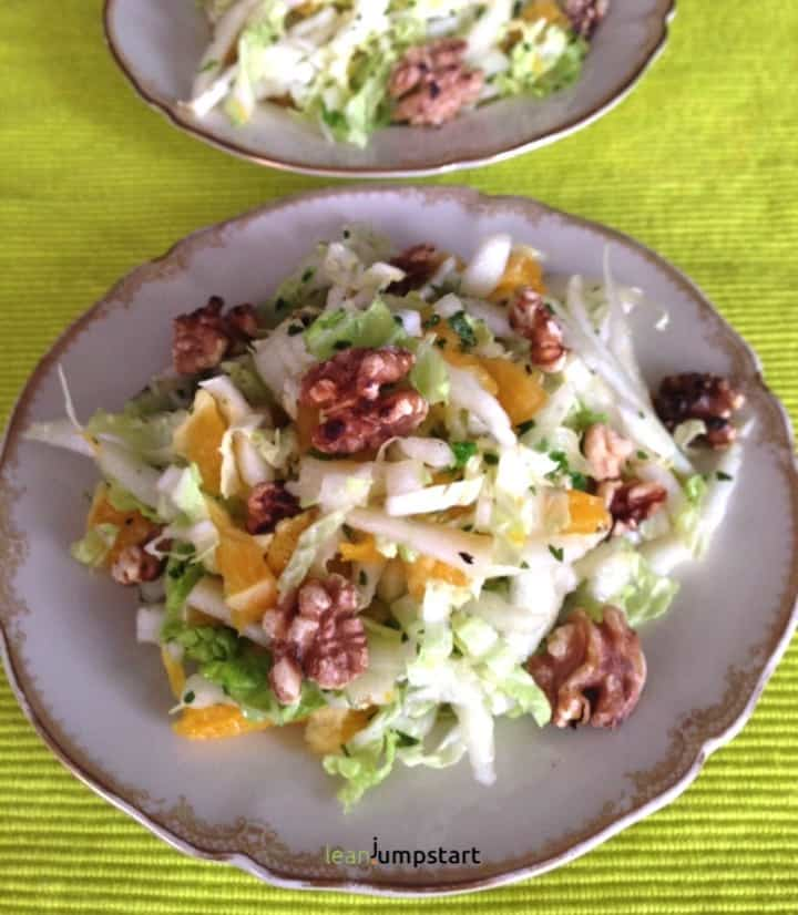 napa cabbage salad with oranges