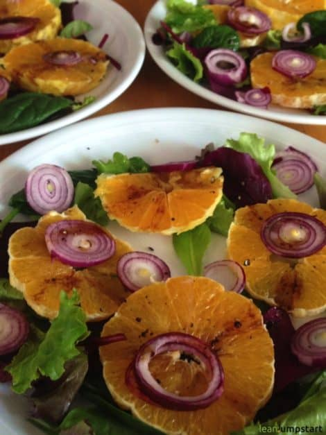 orange carpaccio with red onions