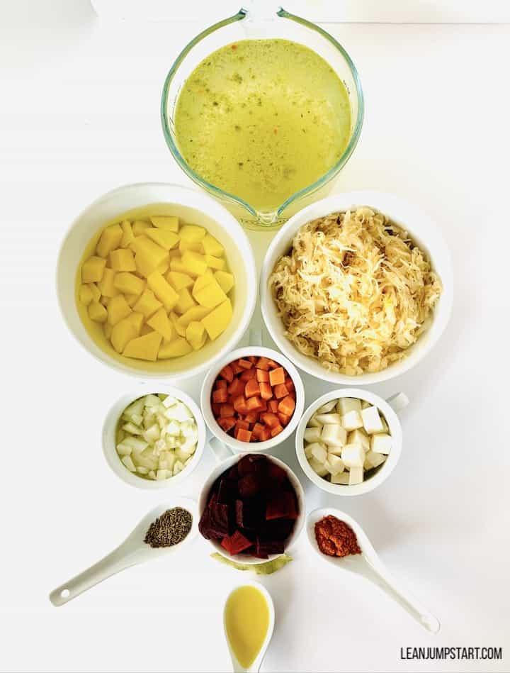 sauerkraut soup ingredients