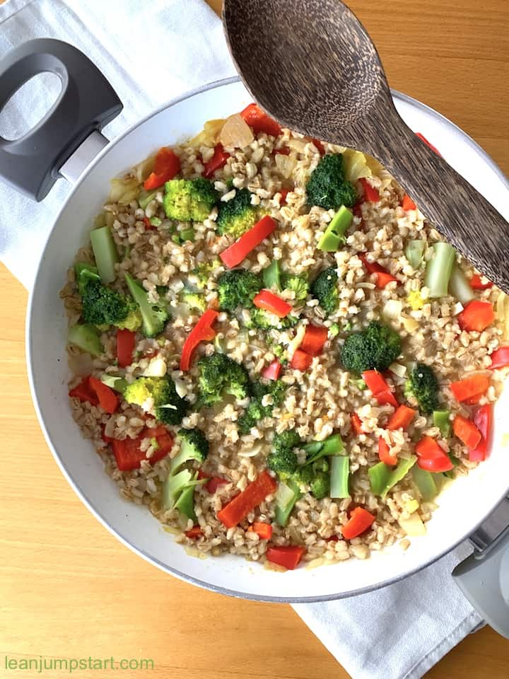 vegetable risotto with barley