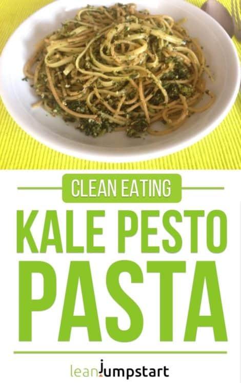 Kale pesto recipe with whole grain pasta – ready in 5 minutes