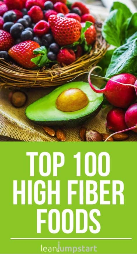 High fiber foods list + benefits of fiber rich foods (backed by science)