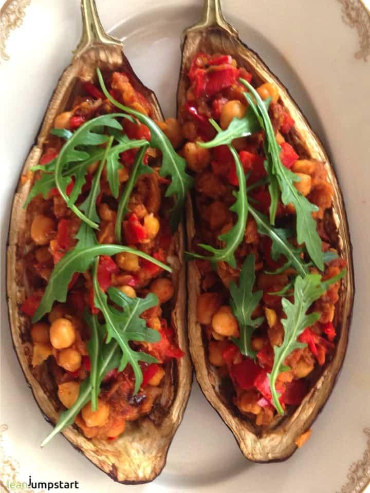 oven baked aubergine