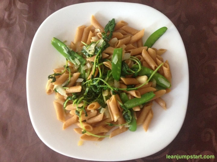 steamed water cress dish