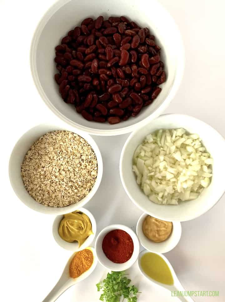 bean burger ingredients