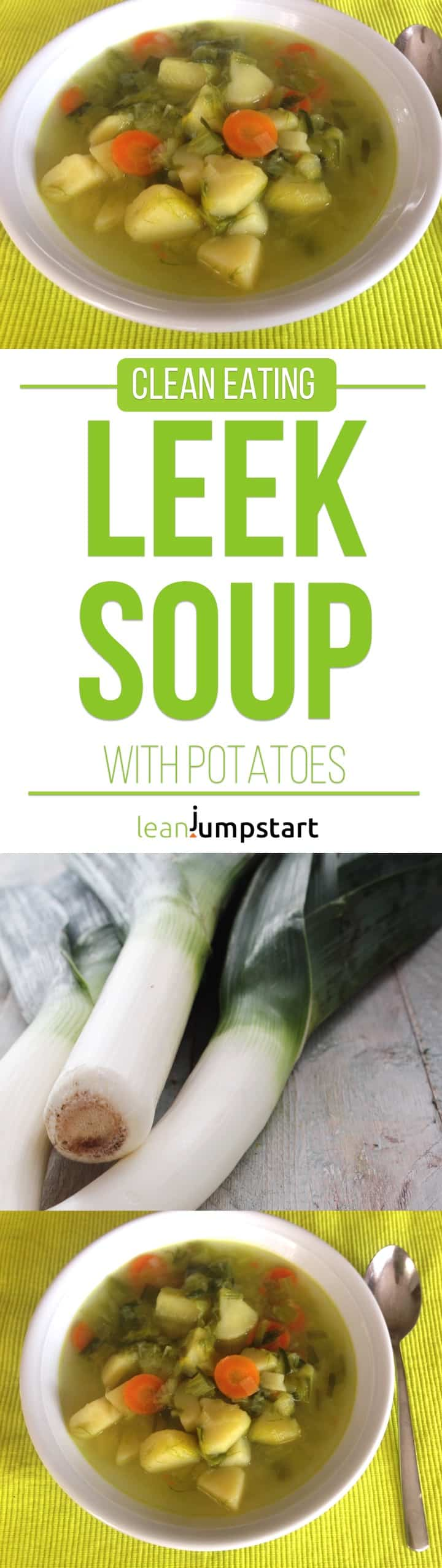 leek and potato soup recipe: a quick and ridiculously easy one pot meal you'll love. Click through!