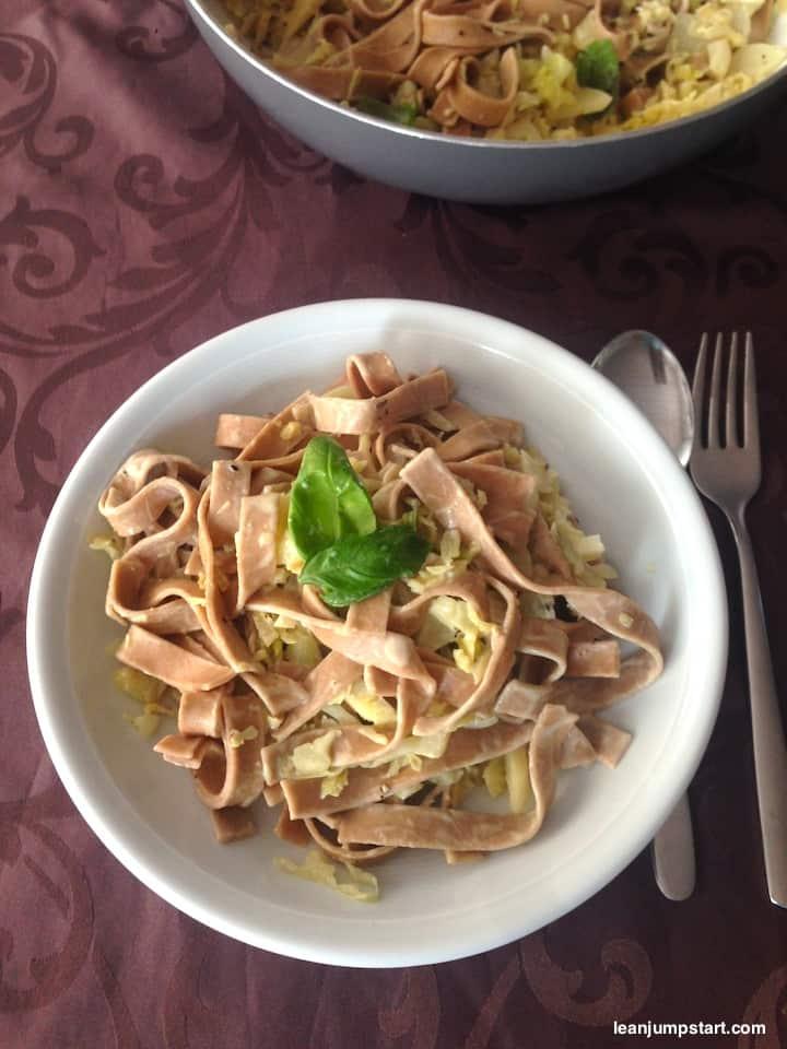 savoy cabbage tagliatelle