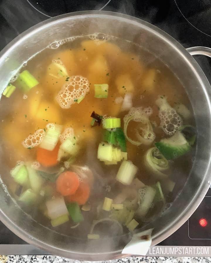 vegetable broth addition