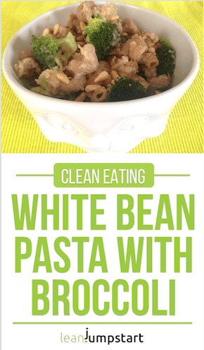 White bean pasta with broccoli: creamy, fiber rich and delicious