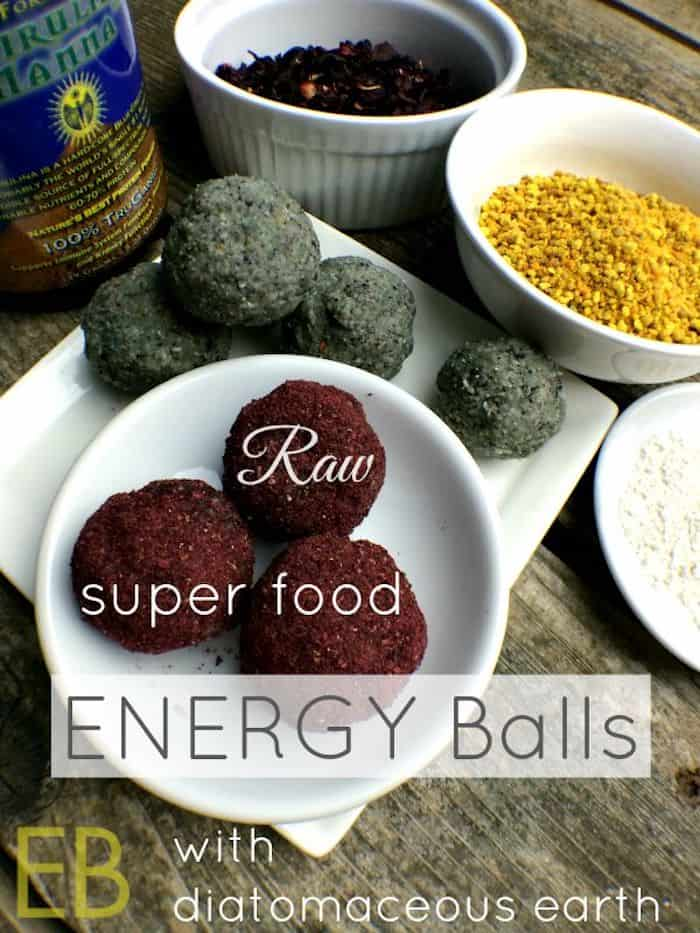 Raw Energy Balls with diatomaceous earthj