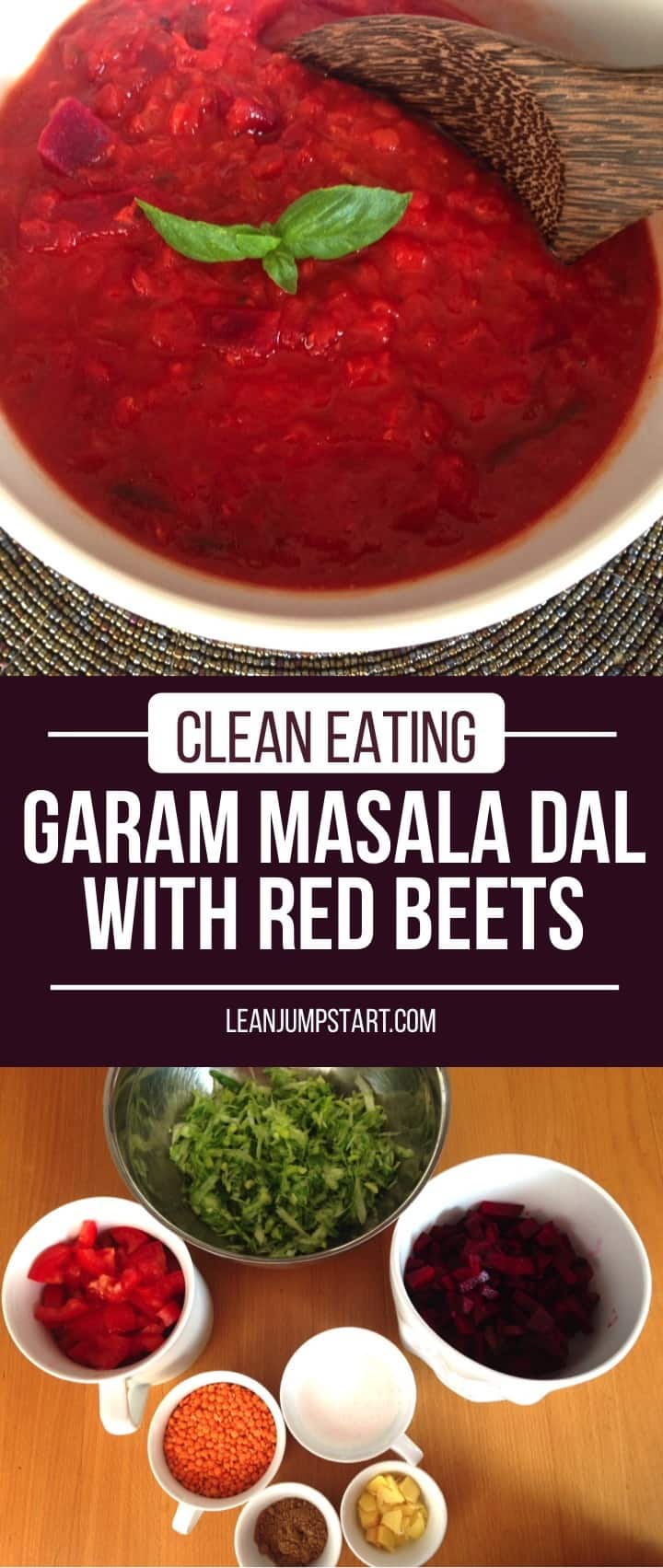 Garam masala dal with red beets: Easy and spicy Indian beetroot red lentil curry #dal #garammasala #beets #Indianrecipe