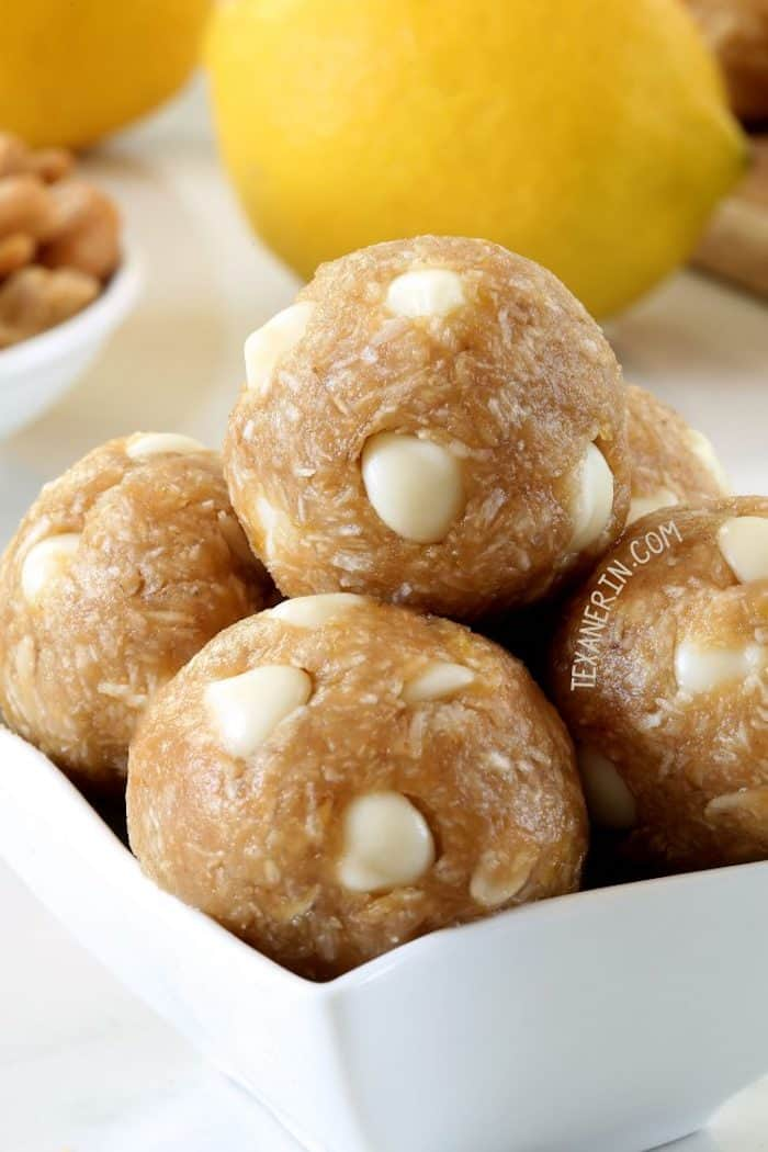 lemon cashew bites