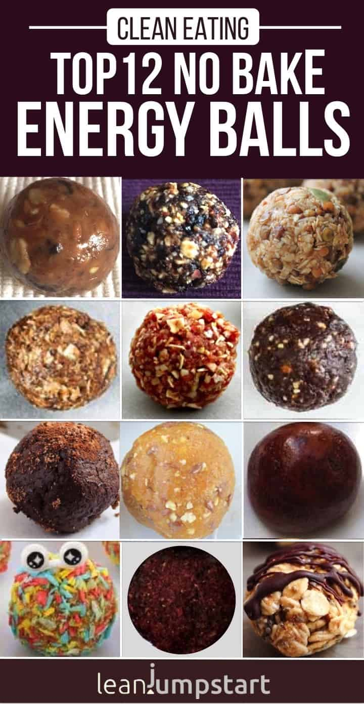 These top 12 no bake energy balls are clean, plant based bites and still as yummy as truffles without the feeling of guilt. I've curated the most seducing bliss balls on the web which you could use as clean eating snacks, healthy dessert or quick vegan breakfast. Click through! #energyballs #energybites #proteinballs via @leanjumpstart