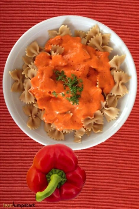 roasted red pepper noodles