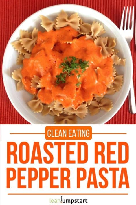Roasted red pepper pasta recipe: a clean and vegan culinary delight