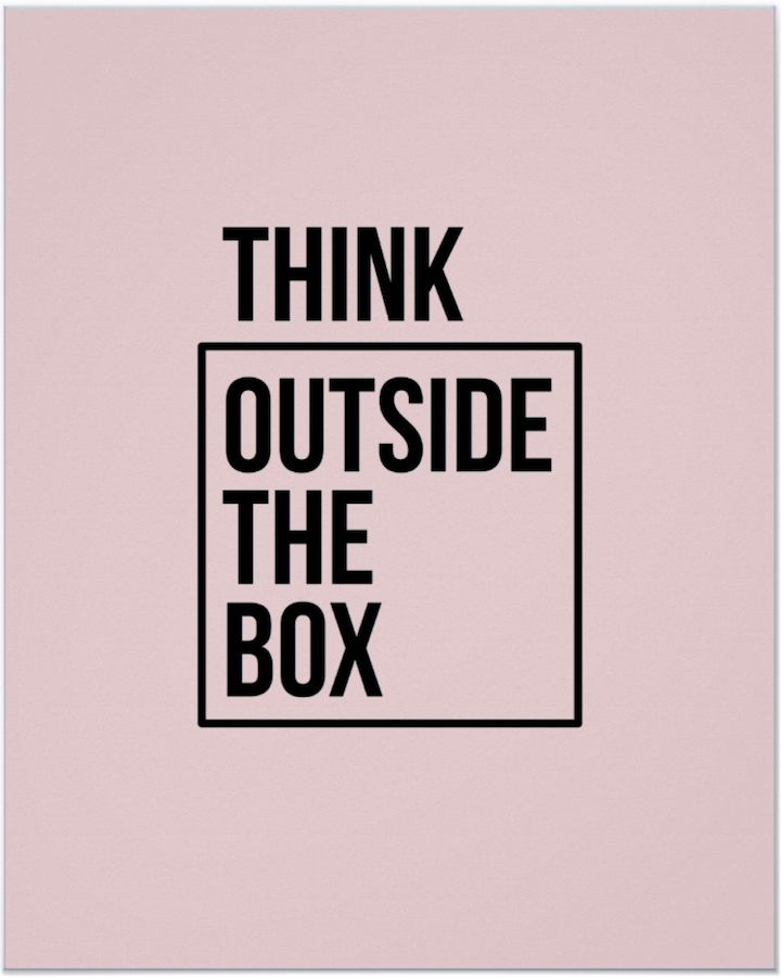 Think outside the boy poster on Zazzle