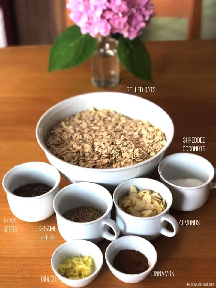 dry granola mixture