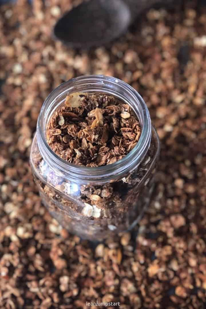 homemade granola closeup
