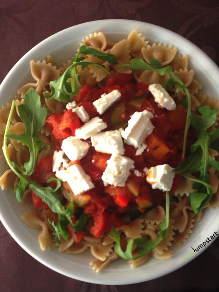 sweet pepper ragout pasta