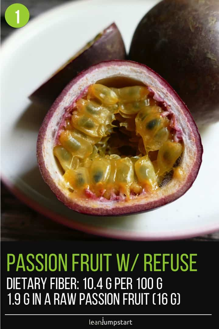 fiber in passion fruits