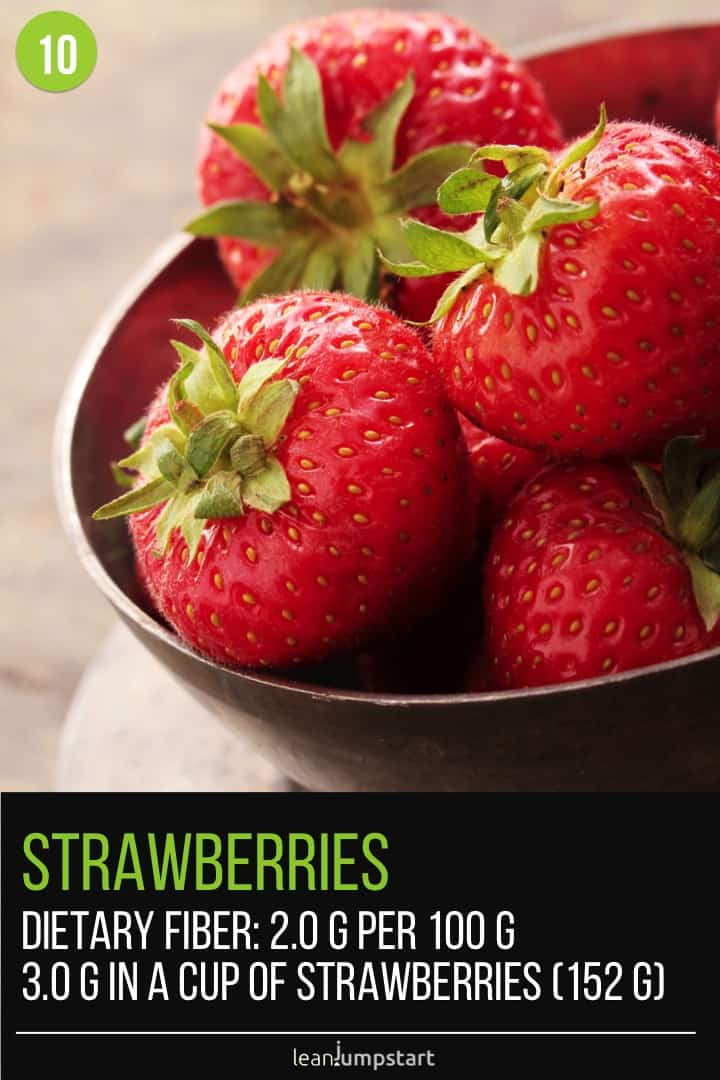 fiber in strawberries