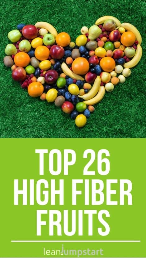 Top 26 high fiber fruits