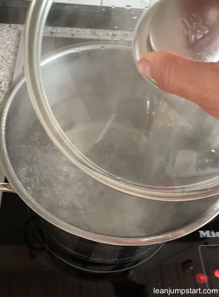 boiling salt water