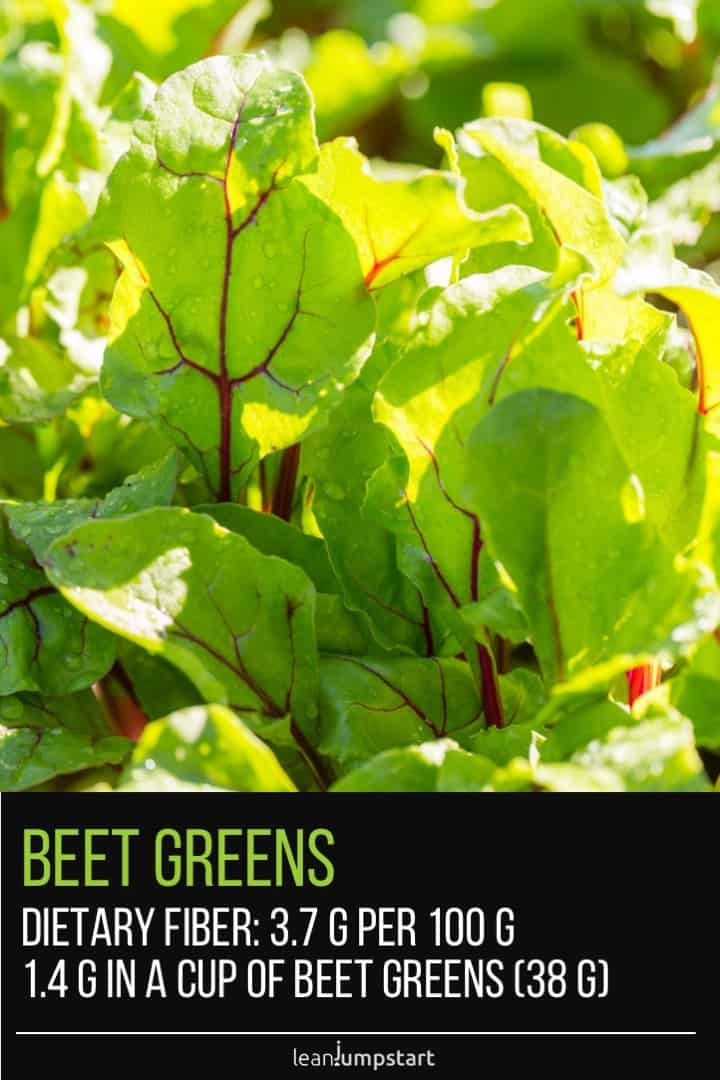 close up of beet greens growing