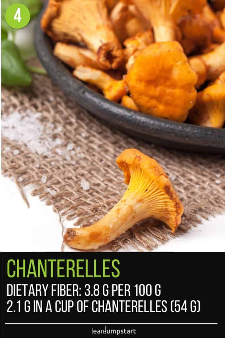 one single chanterelle and chanterelles on a plate