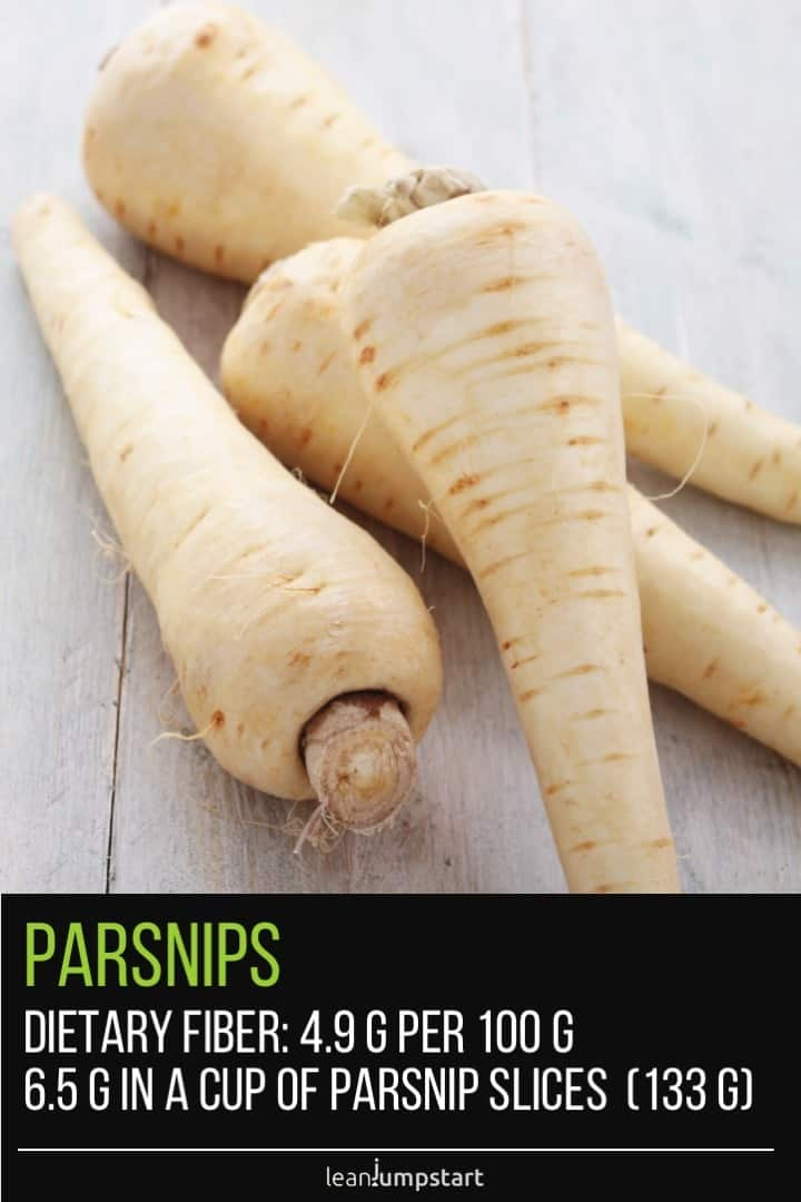 fiber in parsnips