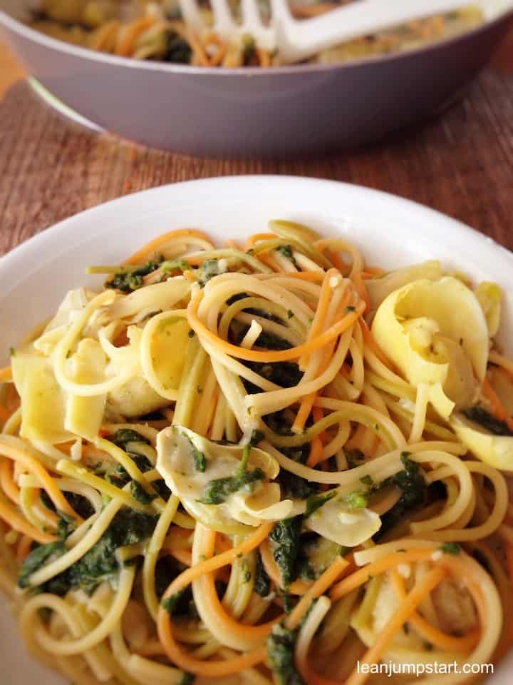 spinach and artichoke pasta