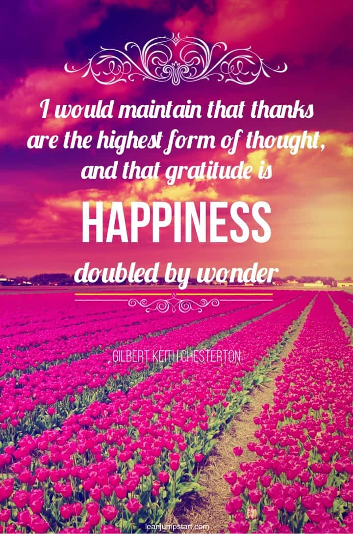 gratitude is happiness