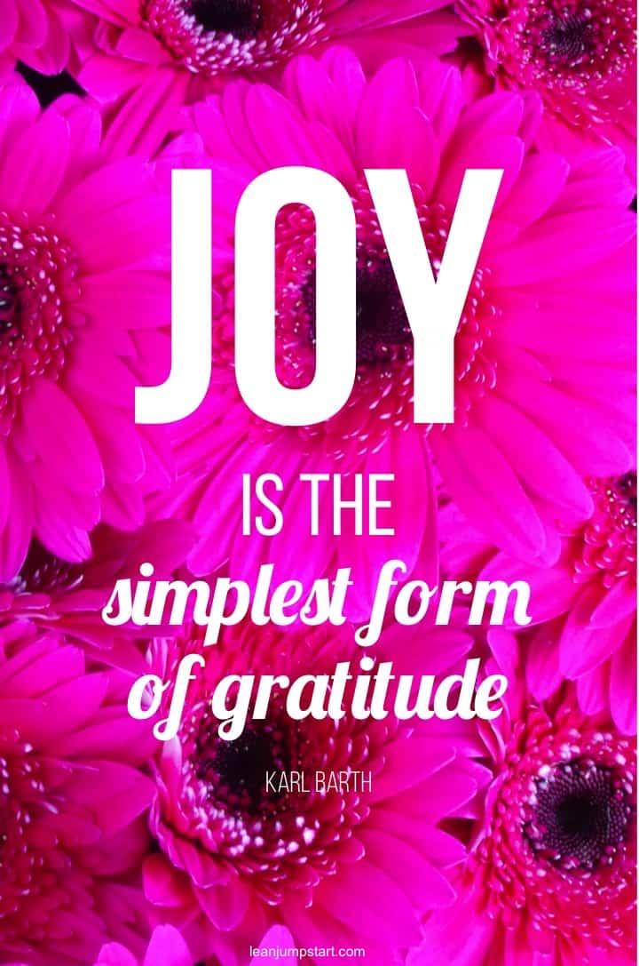 gratitude joy quote