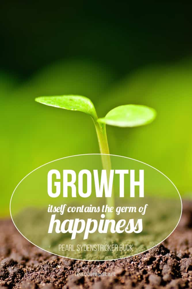 happiness is growth