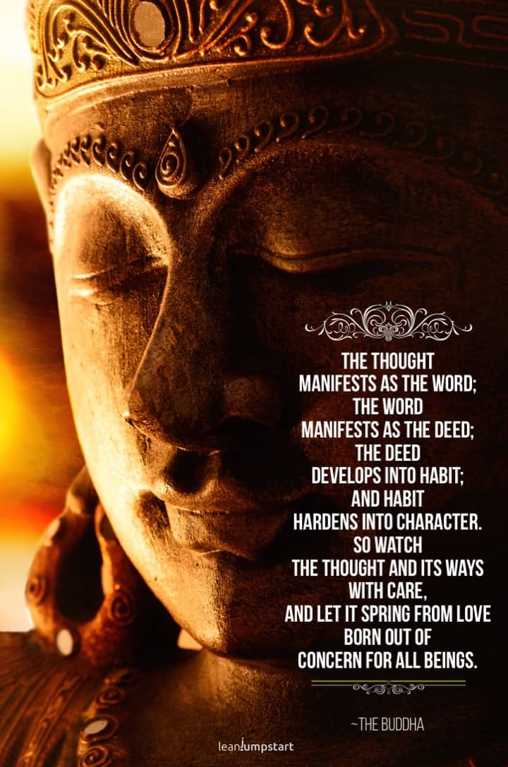 buddha habit quote