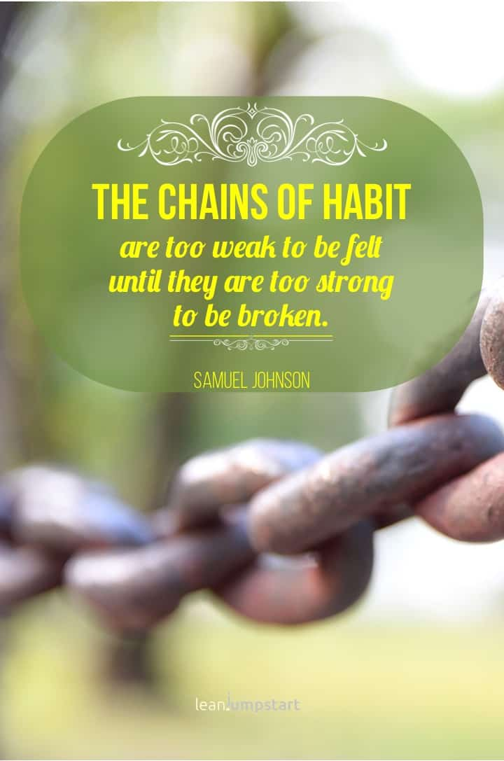 chain of habits quote