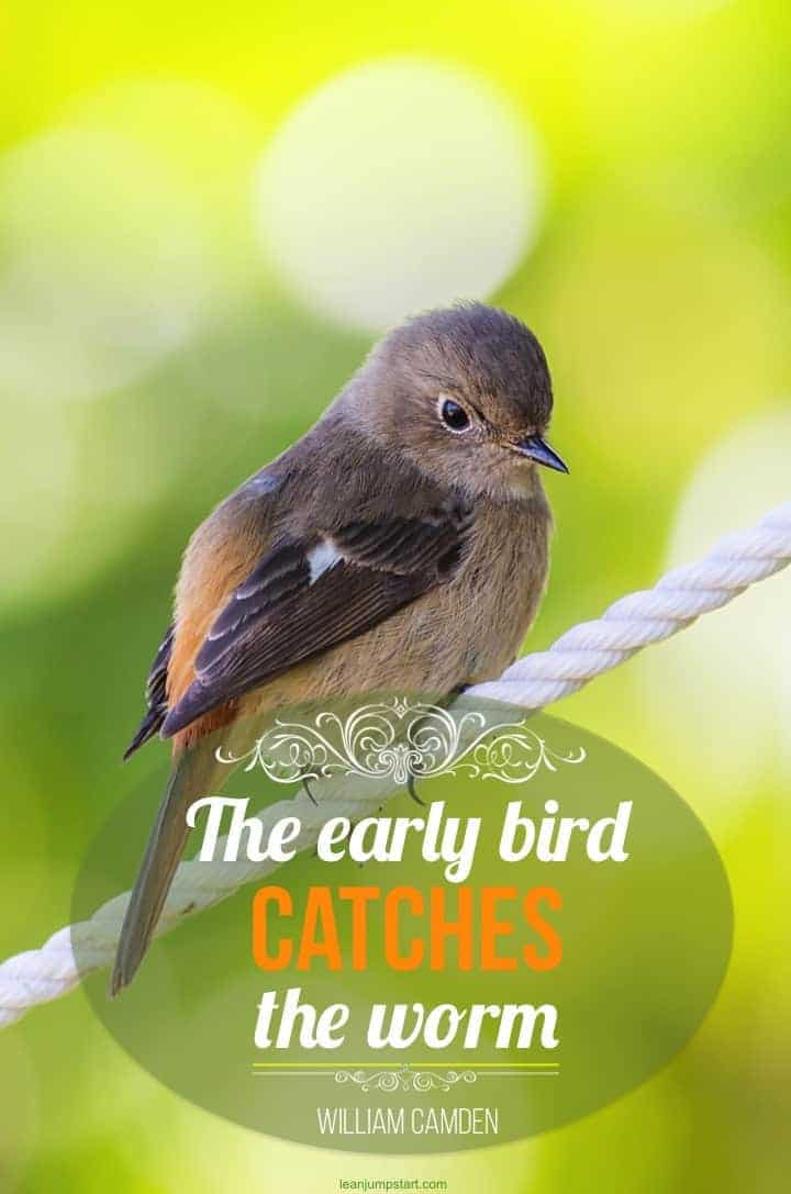 early bird habit quote