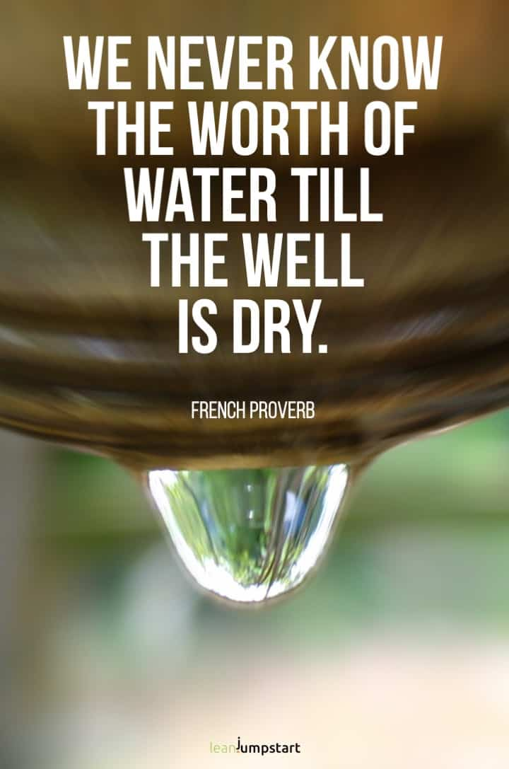 french proverb water