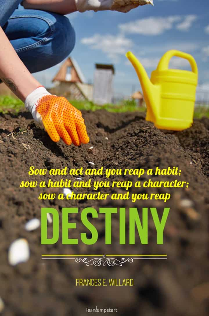 habits shape destiny quote