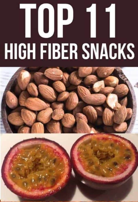 Top 11 high fiber snacks