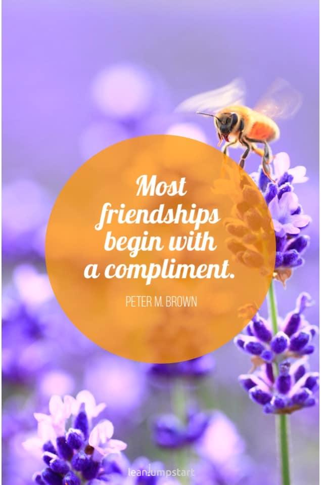 friendship quotes - compliment friendship quote