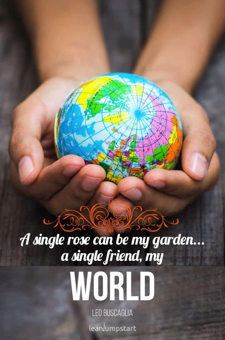 friendship my world quote