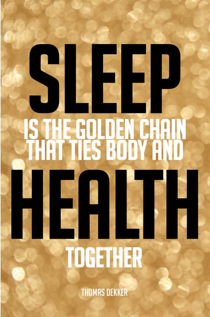 sleep and health quote