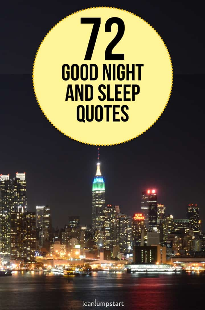 72 inspirational good night and sleep quotes for a healthy ...